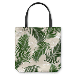Tropical Palms Green Tote Bag