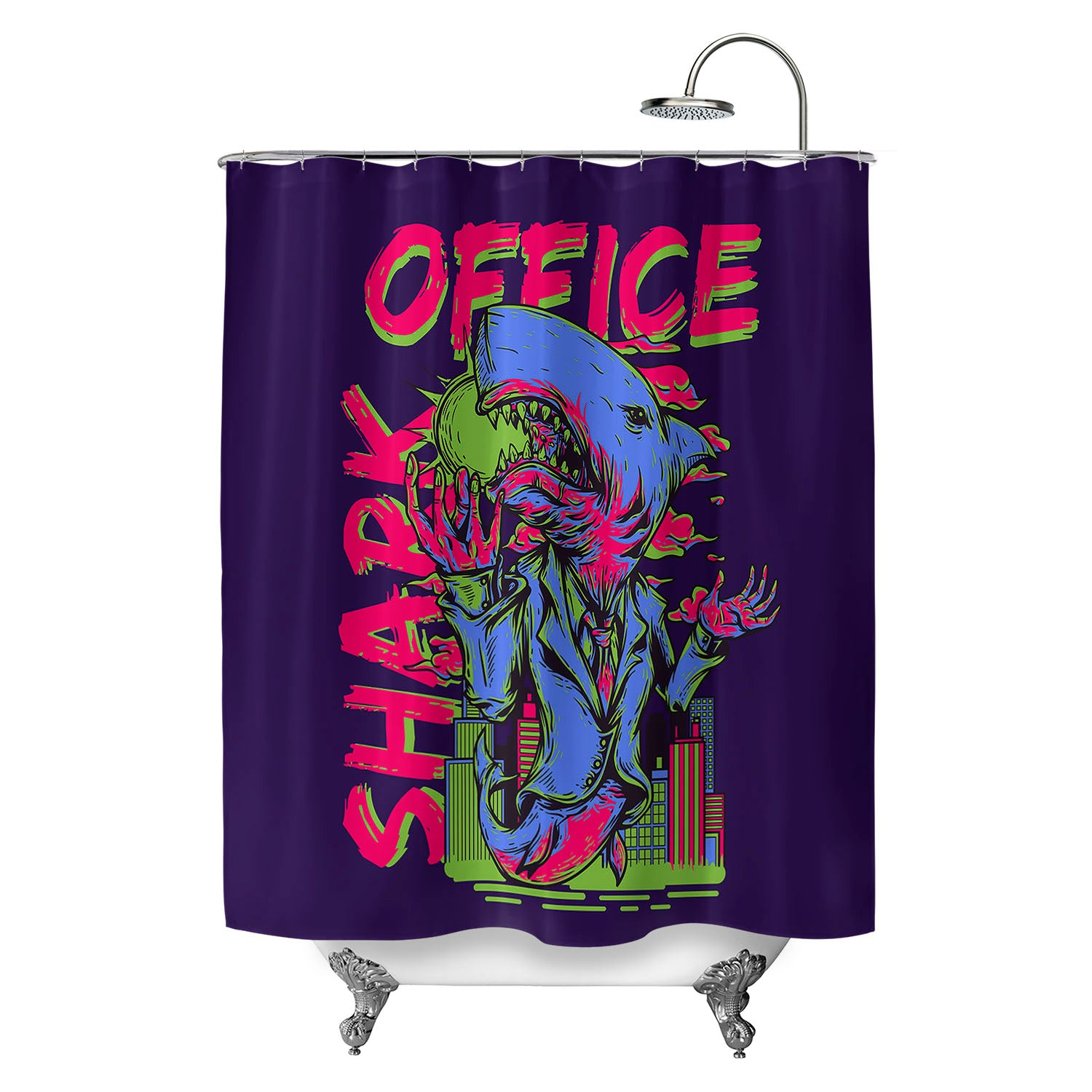 Office Shark Shower Curtain – ChillCave