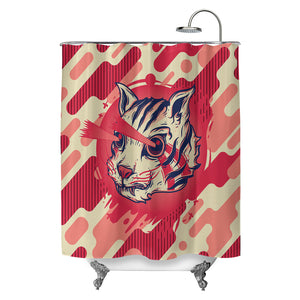 Kitty Commando Shower Curtain