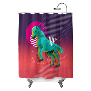 Neon Equus Shower Curtain