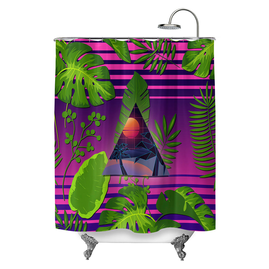 Miami Paradise Shower Curtain