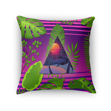 Miami Paradise Throw Pillow