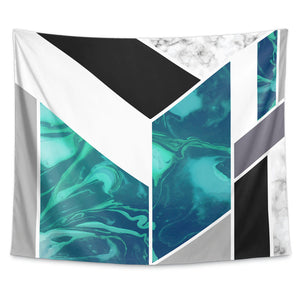Luxe Marble Aqua Wall Tapestry