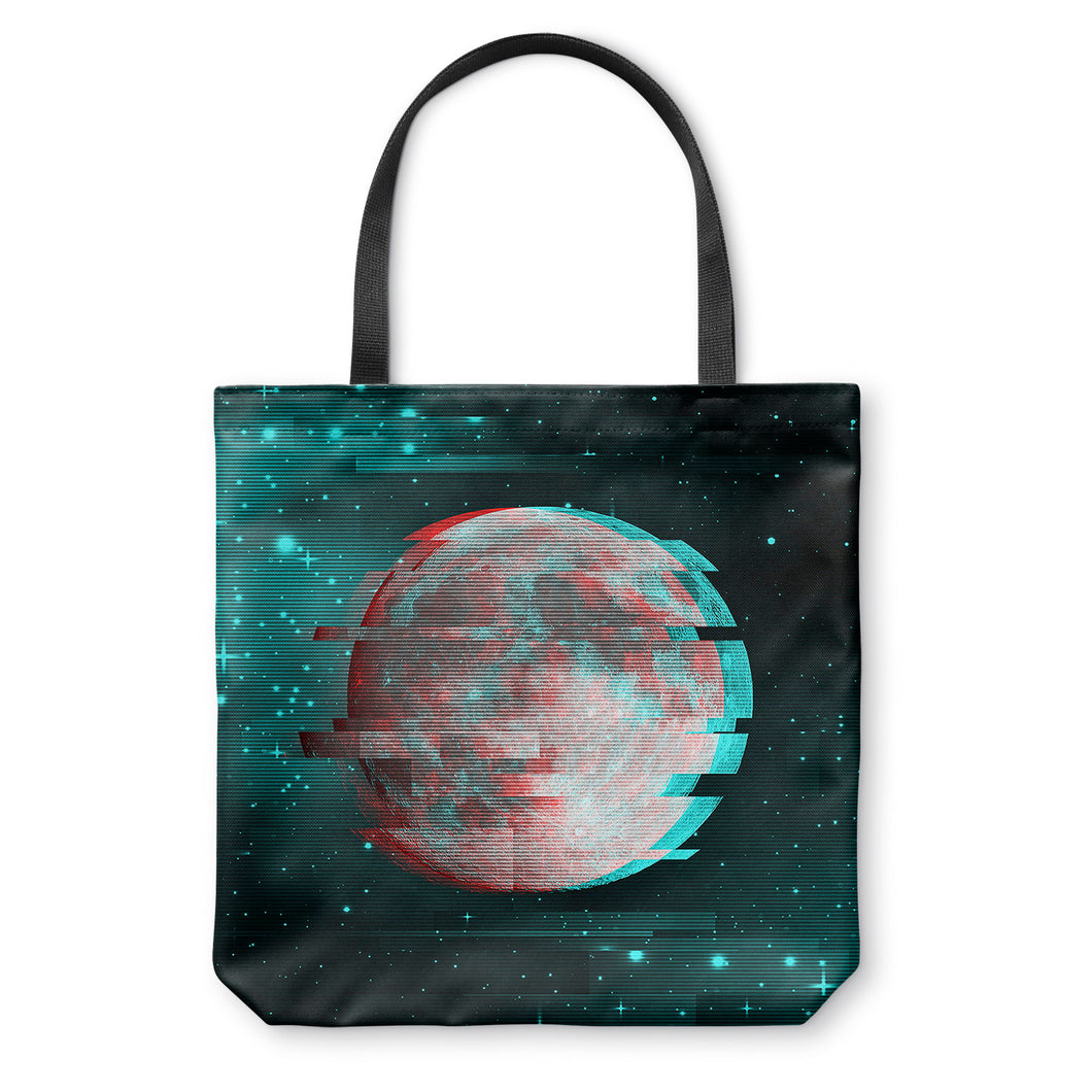 Lunar Glitch Tote Bag