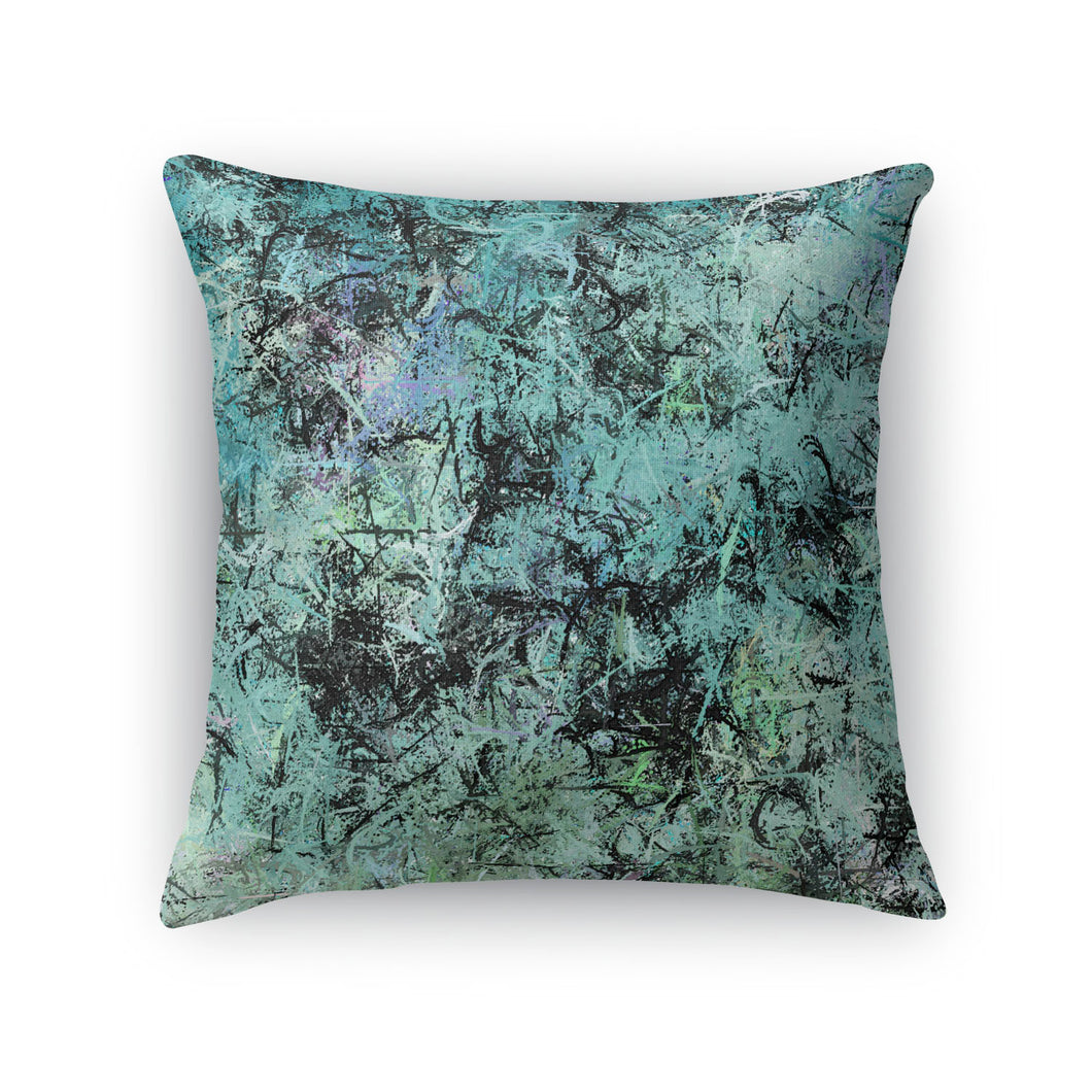 Sea Splatter Throw Pillow