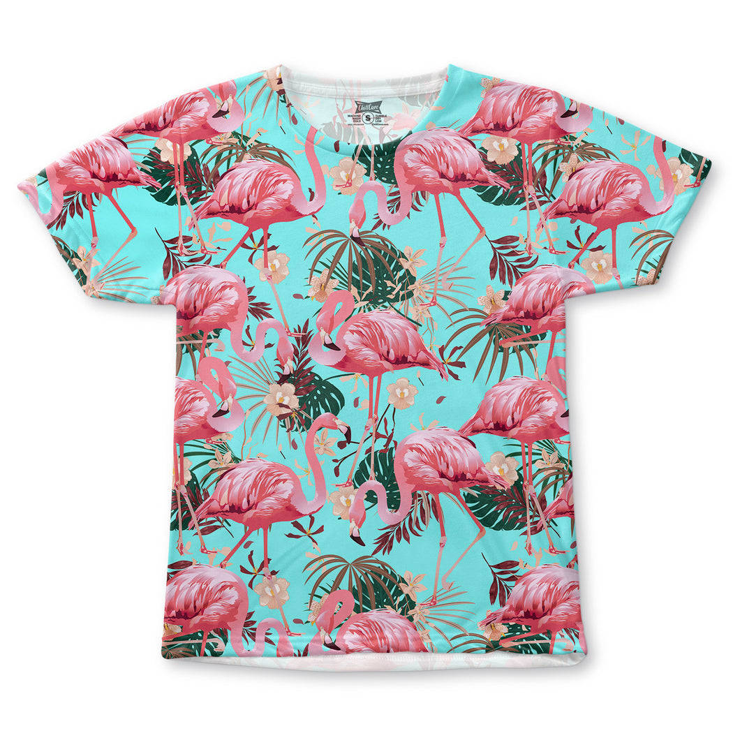 Flamingo Turquoise All-Over T-Shirt