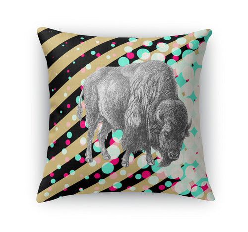 Buffs Black and Gold Throw Pillow