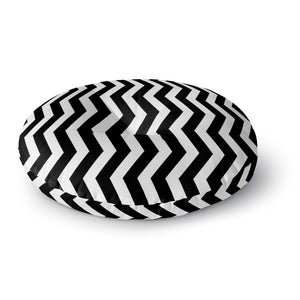 Zigzag Round Floor Pillow
