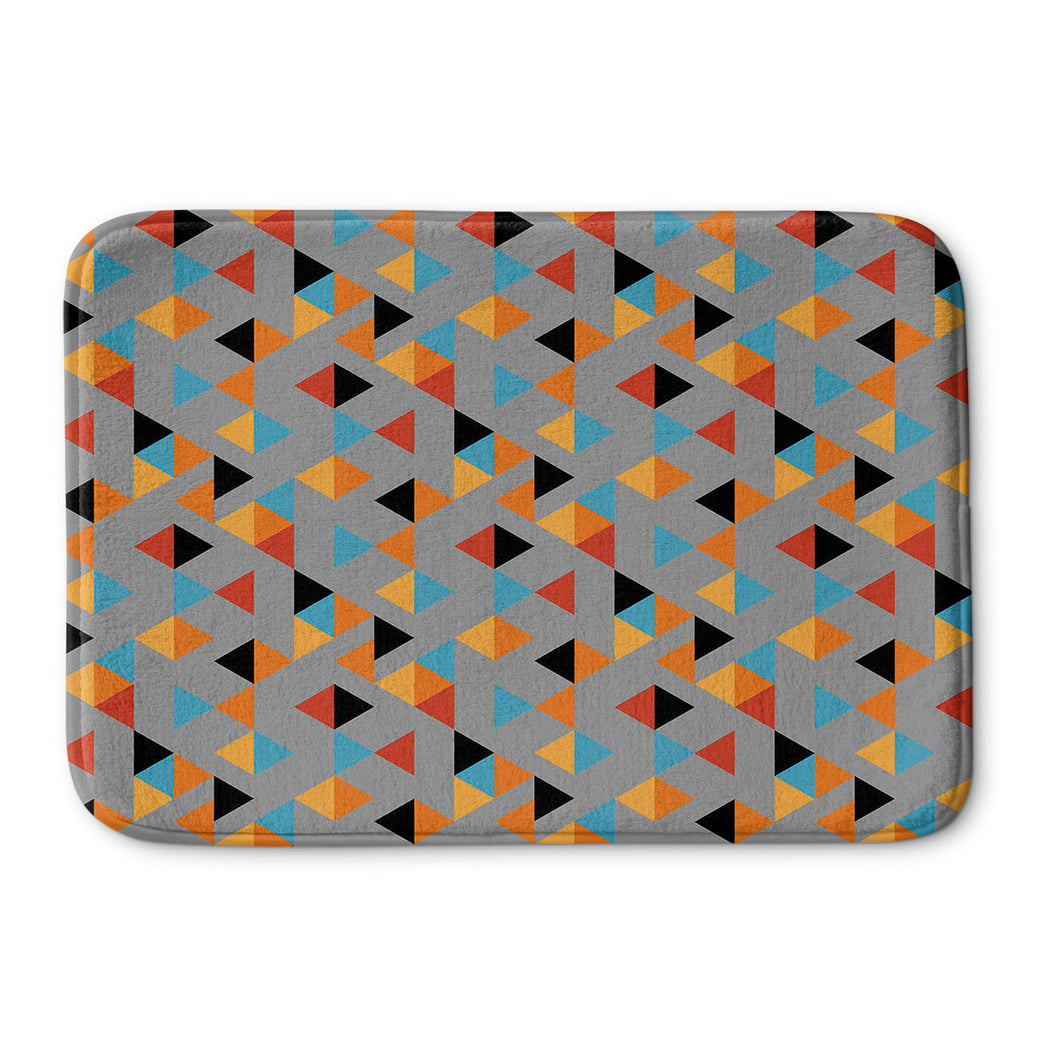 Colorful Triangles Bath Mat