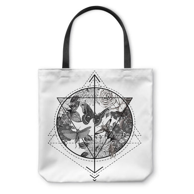 Butterflowers Geometry Tote Bag