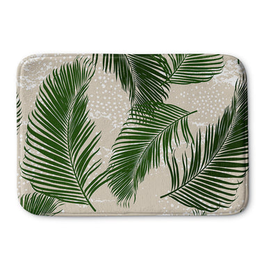 Tropical Palms Green Bath Mat