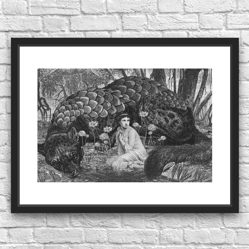 The Sin Eater by Julius Garrido Framed Art Print