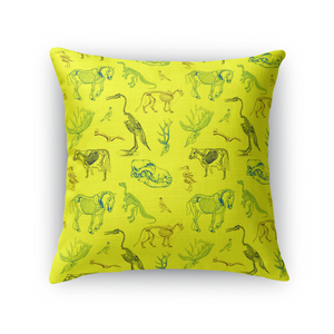 Animal Skeletons Throw Pillow