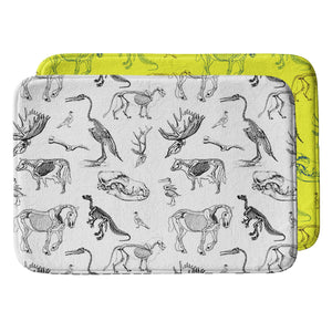 Animal Skeletons Bath Mat