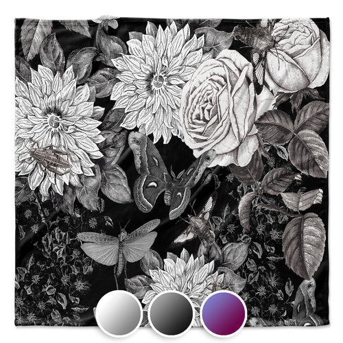 Butterflowers Throw Blanket