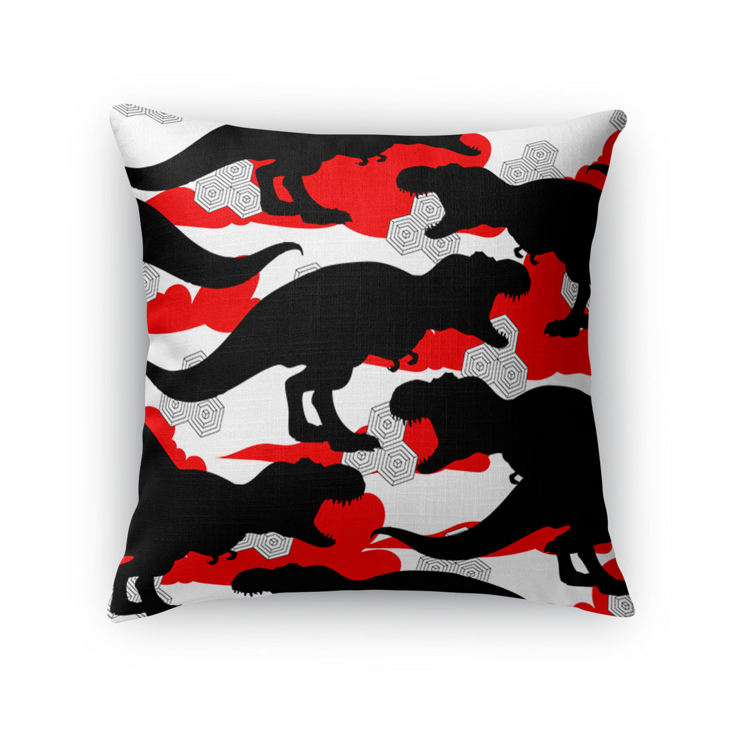 Cloud T. Rex Throw Pillow