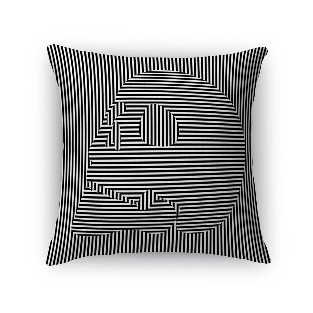 Hidden Skull Throw Pillow