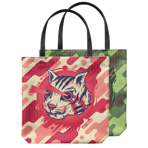 Kitty Commando Tote Bag