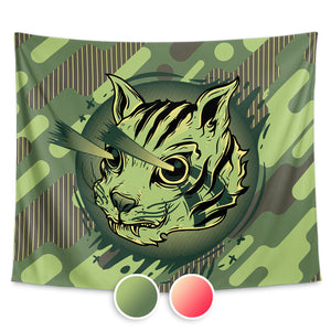 Kitty Commando Wall Tapestry