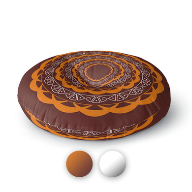 Mandala Round Floor Pillow