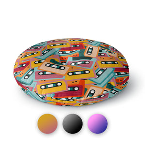 Mixtapes Round Floor Pillow
