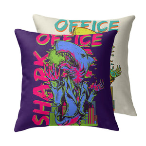 Office Shark Throw Pillow