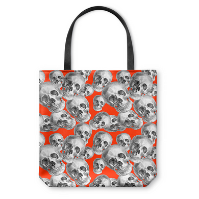 Skulls On Red Tote Bag