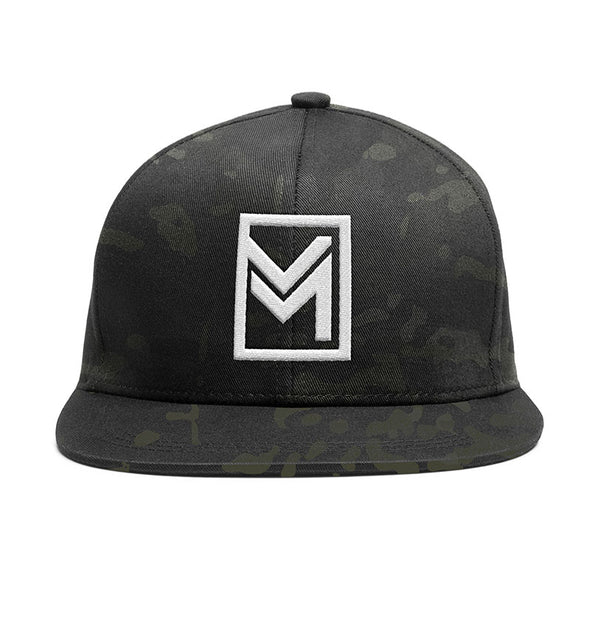 MTHD Raised Snapback Black Camo