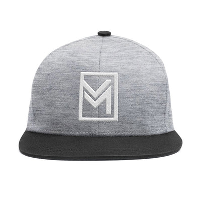 MTHD Raised Snapback Heather Grey & Black