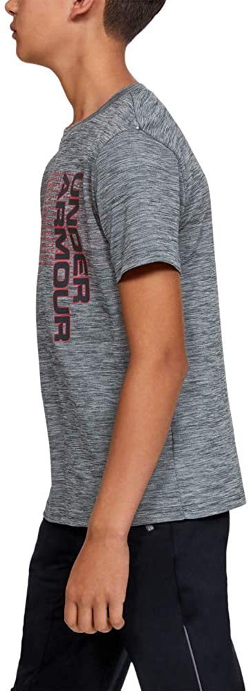 Under Armour Boys' Crossfade T-Shirt, Stealth Gray (008)/Stealth Gray, Youth Small