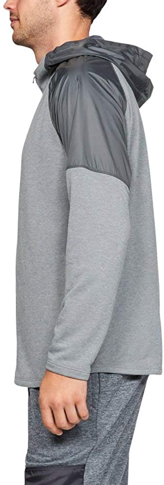 Under Armour MK1 Terry Full Zip Hoodie, Mod Gray//Pitch Gray, Medium