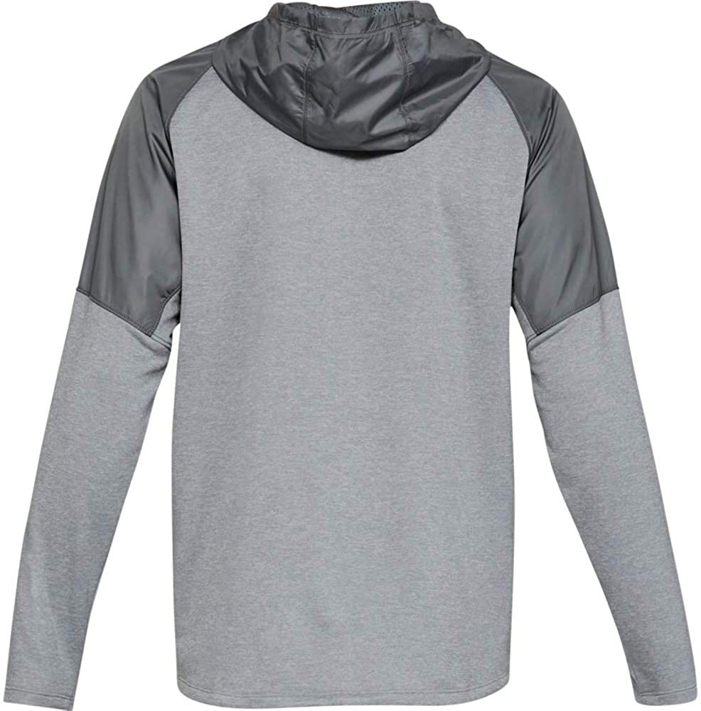 Under Armour MK1 Terry Full Zip Hoodie, Mod Gray//Pitch Gray, X-Large