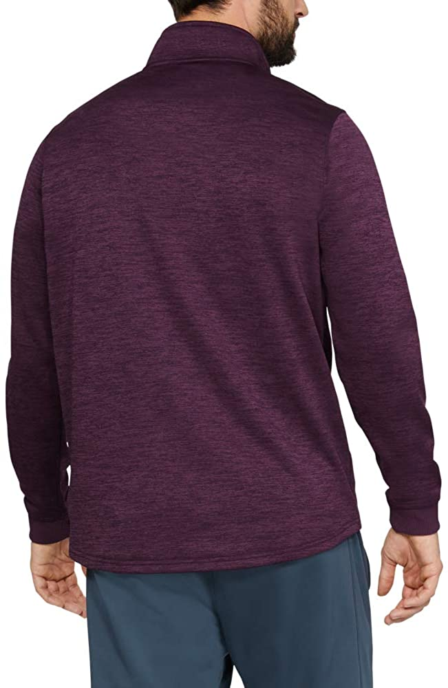Under Armour Men's Armour Fleece 1/2 Zip, Kinetic Purple (520)/Black, Medium