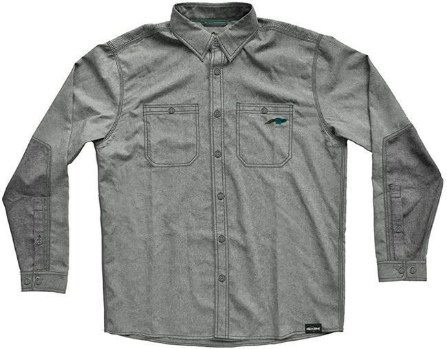 RepYourWater Side Channel 2.0 Button Down Shirt (Large) Green/Gray