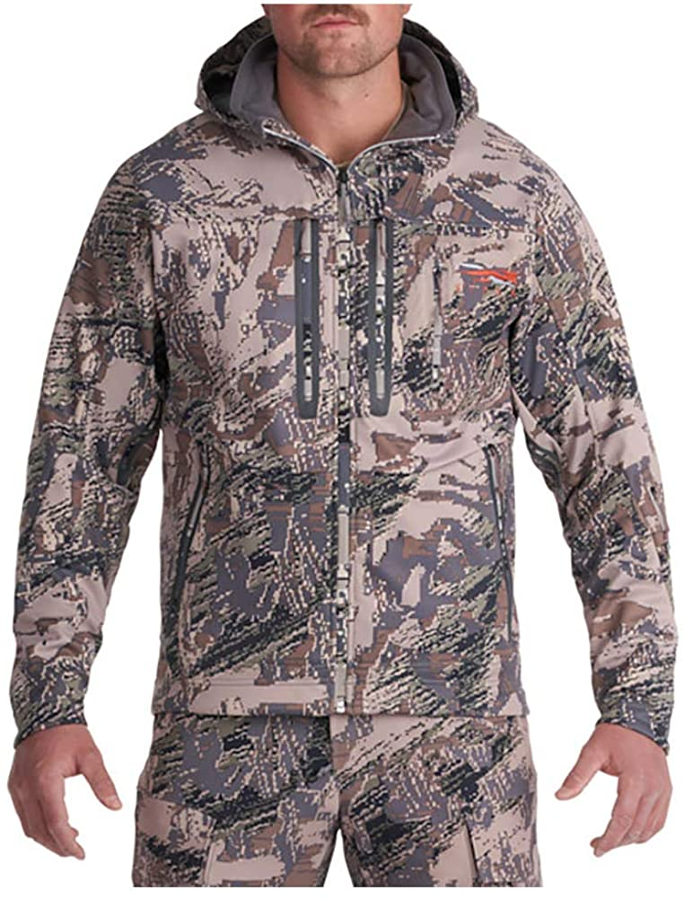SITKA Gear Men's Jetstream Windstopper Water Repellent Hunting Jacket, Optifade Open Country, XX-Large