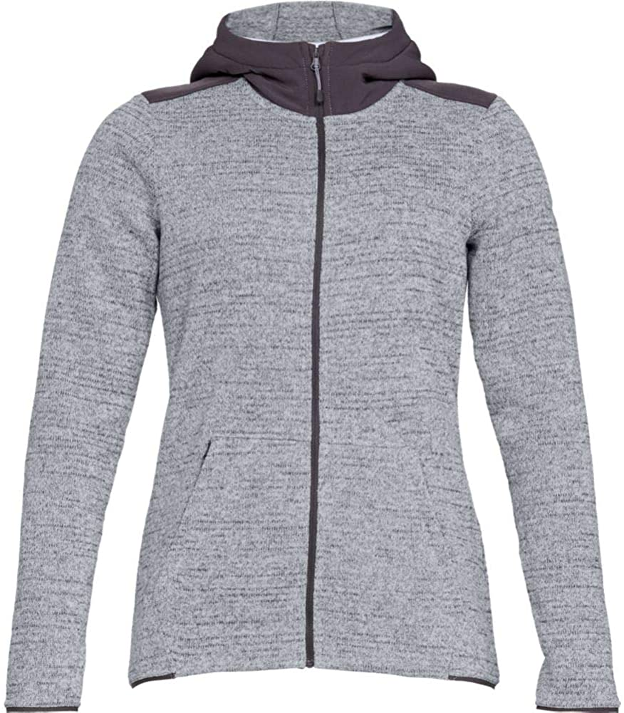 Under Armour Women's Wintersweet Hoodie 2.0, Overcast Gray (941)/White, Medium