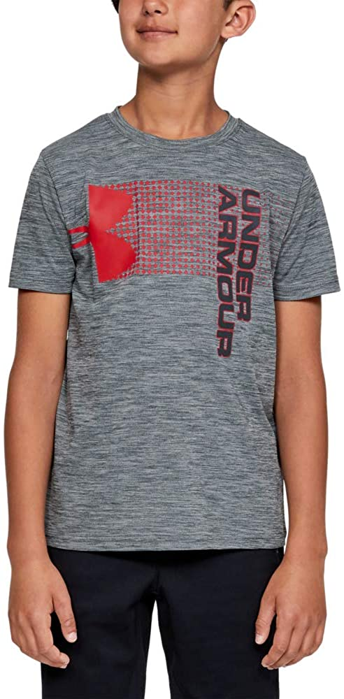 Under Armour Boys' Crossfade T-Shirt, Stealth Gray (008)/Stealth Gray, Youth Medium