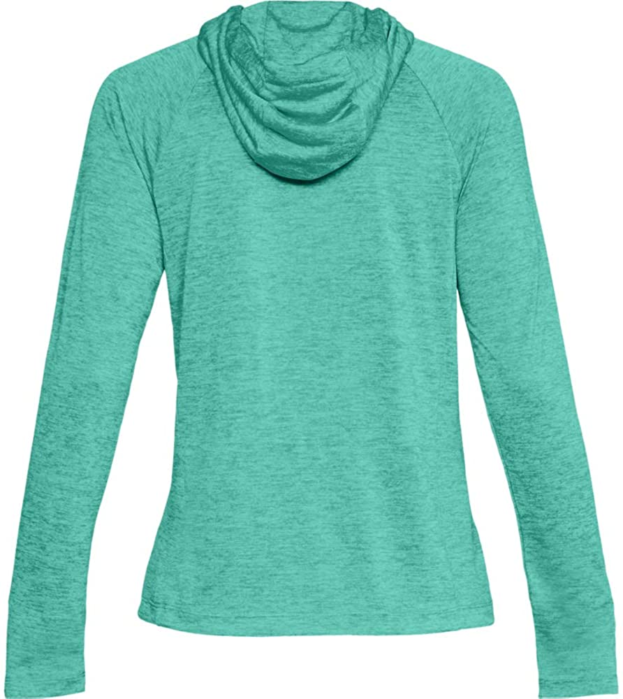 Under Armour Women's Tech Twist Hoodie, Green Malachite (349)/Metallic Silver, Large