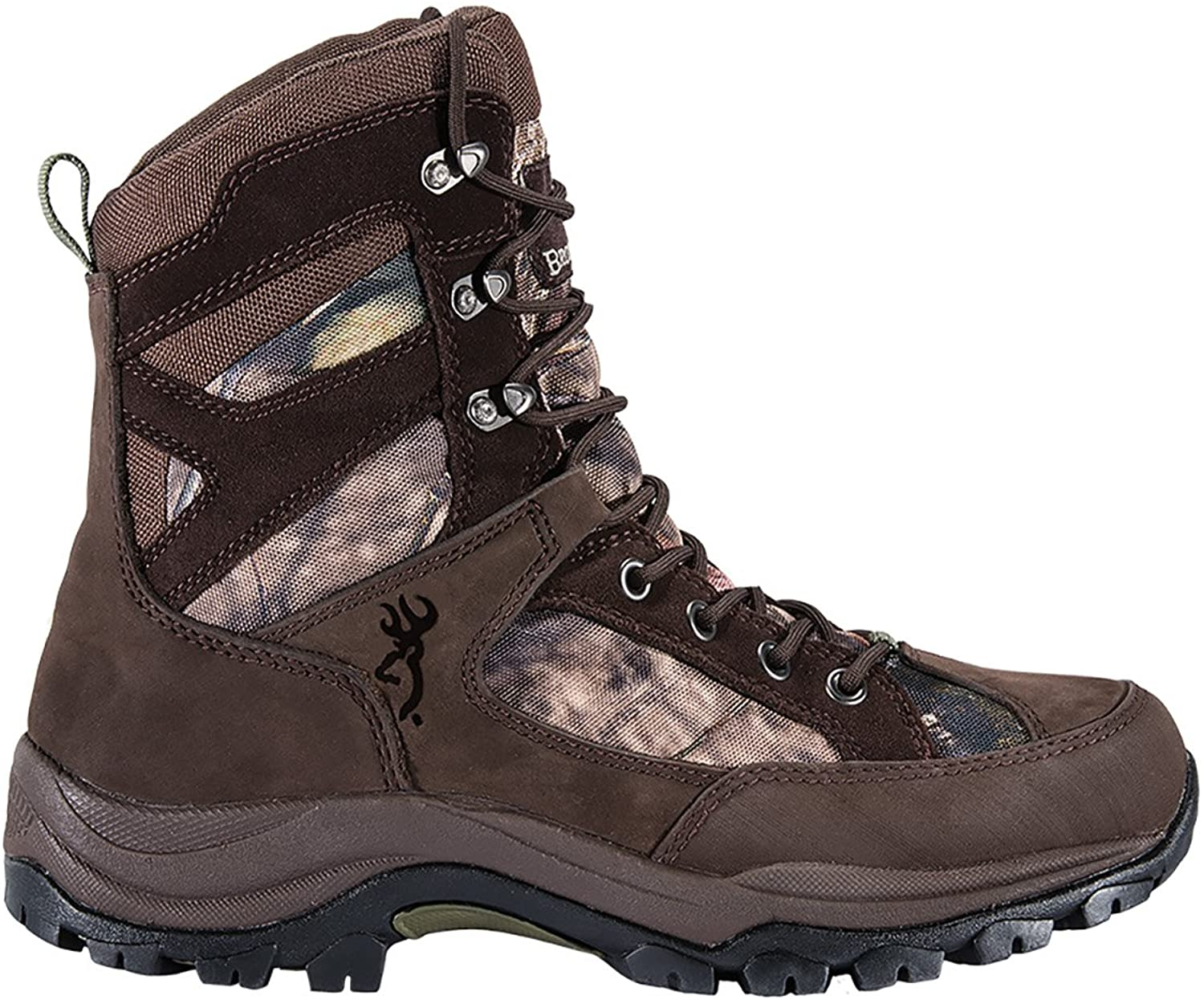 Browning Mens Buck Pursuit 8in Oxford Hunting Boots - 400g, Bracken/Mossy Oak F000005620234