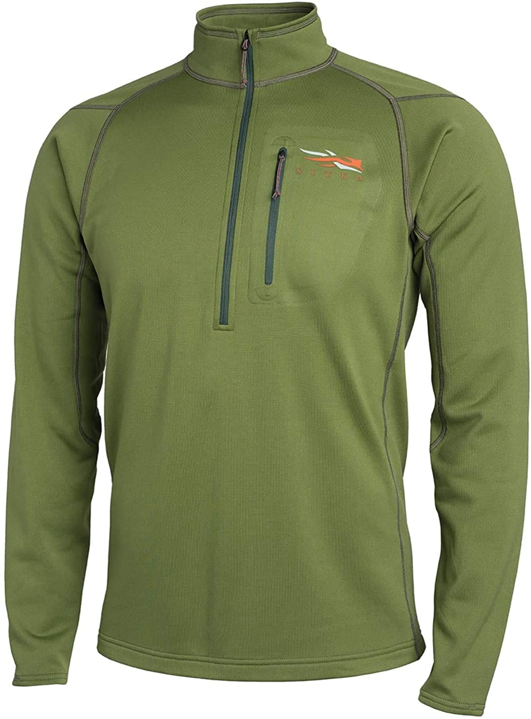 SITKA Gear Men's Core Midweight Zip-T Quick-Dry Odor-Free Long Sleeve Hunting Shirt, Forest, Medium