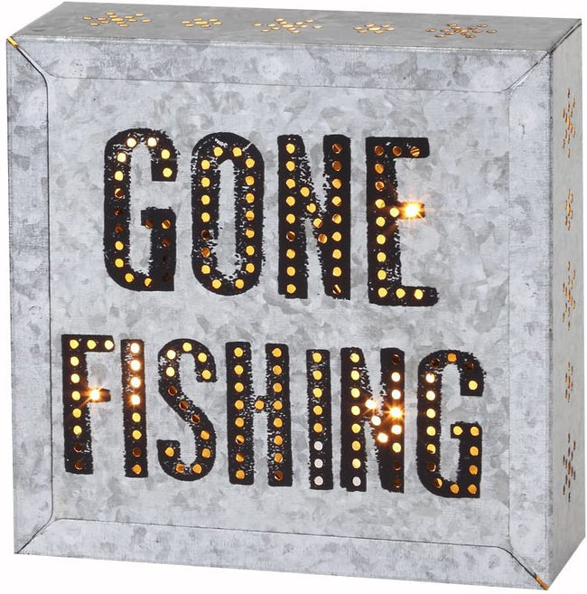 DEMDACO Gone Fishing Metal Wall Art