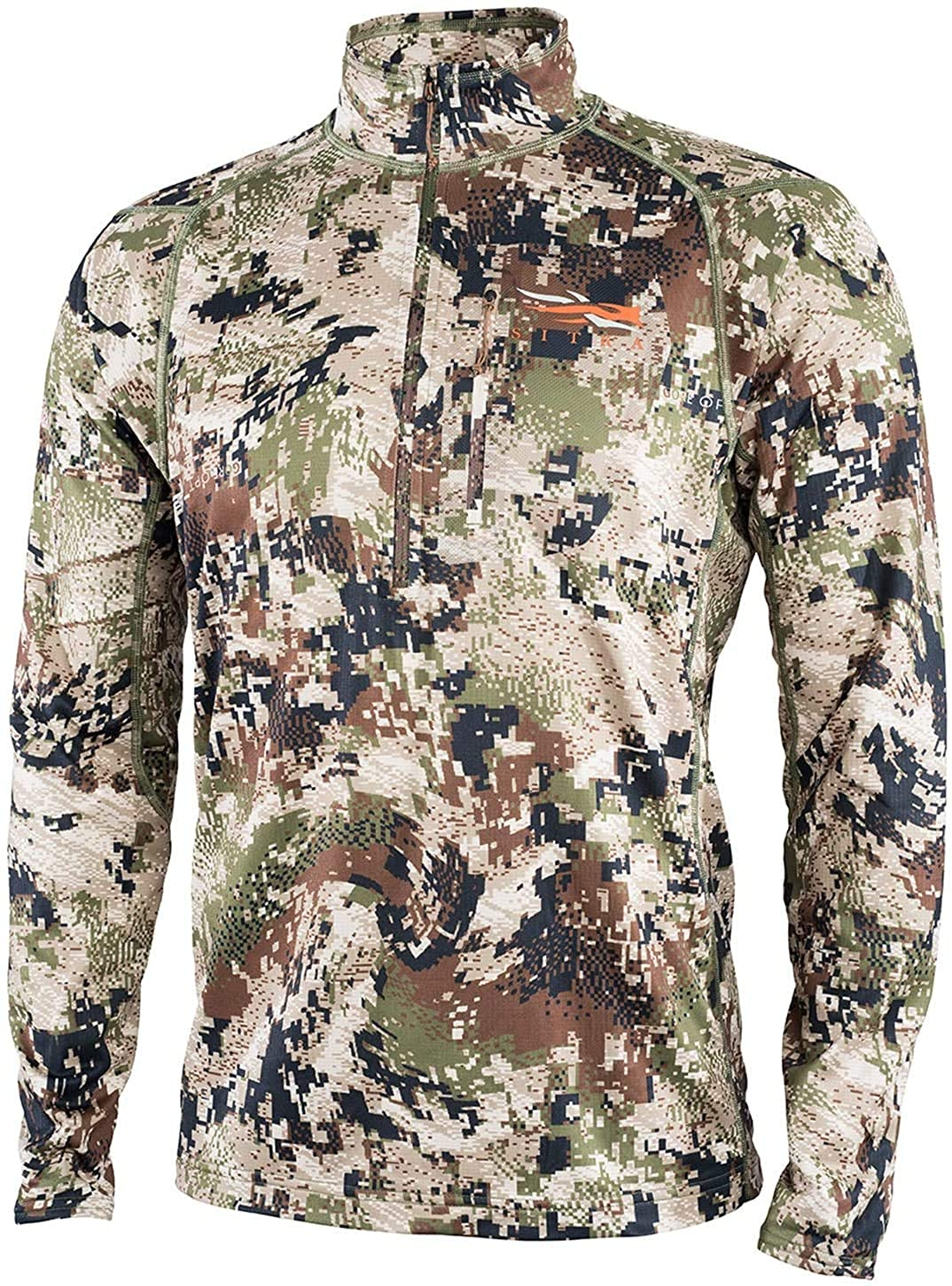 SITKA Gear Men's Core Midweight Zip-T Quick-Dry Odor-Free Long Sleeve Hunting Shirt, Optifade Subalpine, XX-Large Tall