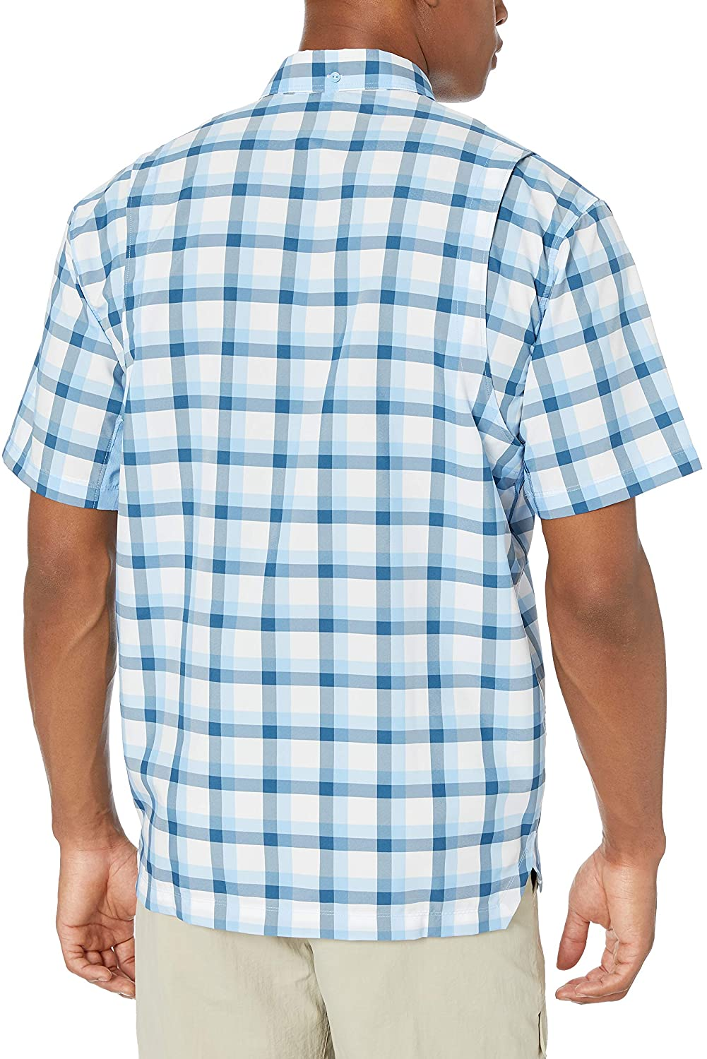 Under Armour Outerwear Men's UA Tide Chaser Plaid SS, Carolina Blue (475)/Elemental, X-Large
