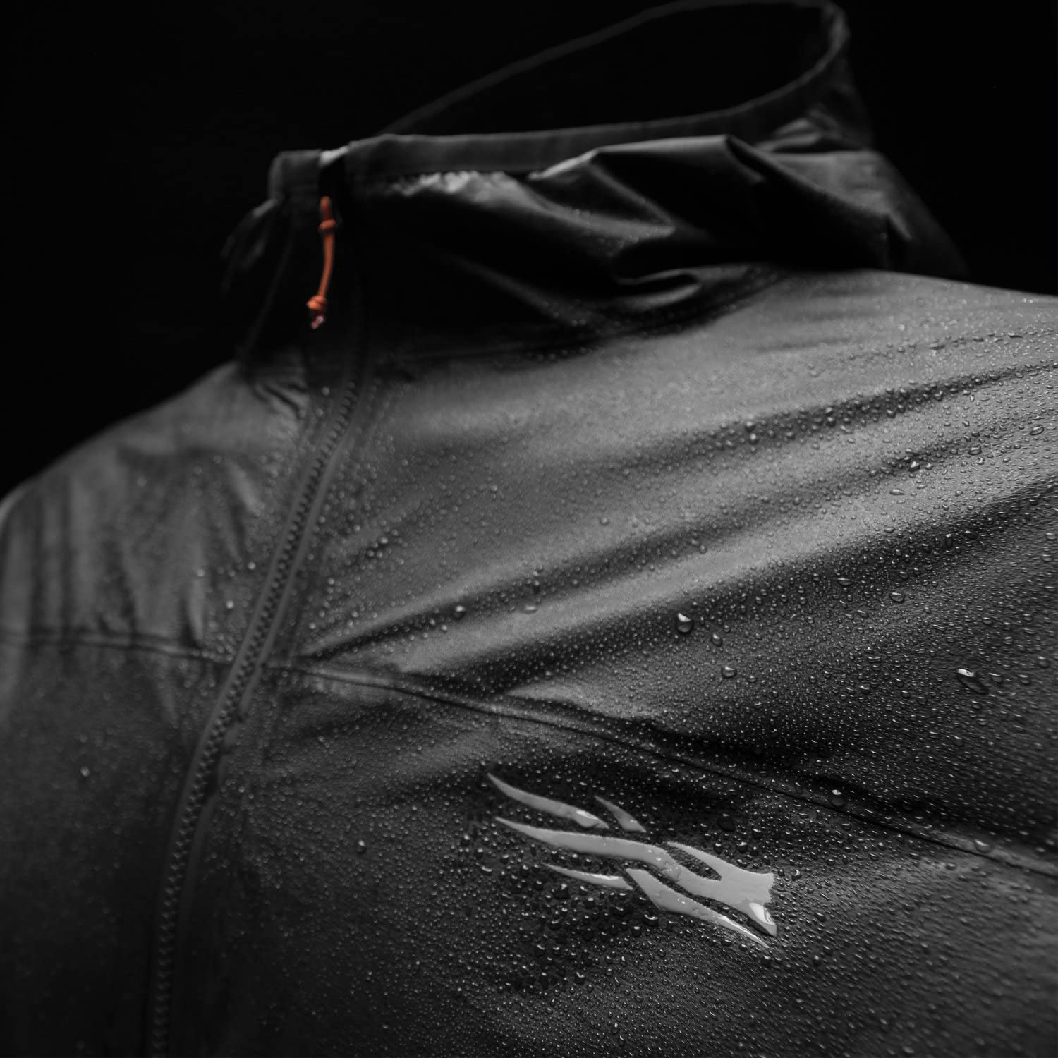 Sitka Gear Mens Packable Gore-Tex Waterproof Windproof Training Hooded Vapor SD Jacket, Black, M