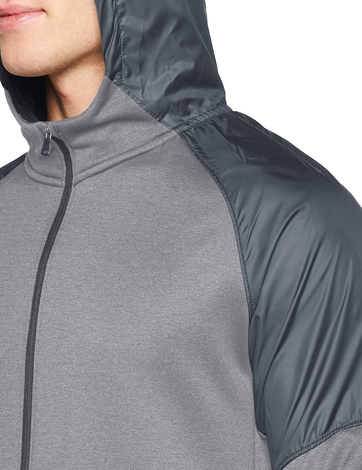 Under Armour MK1 Terry Full Zip Hoodie, Mod Gray//Pitch Gray, Large