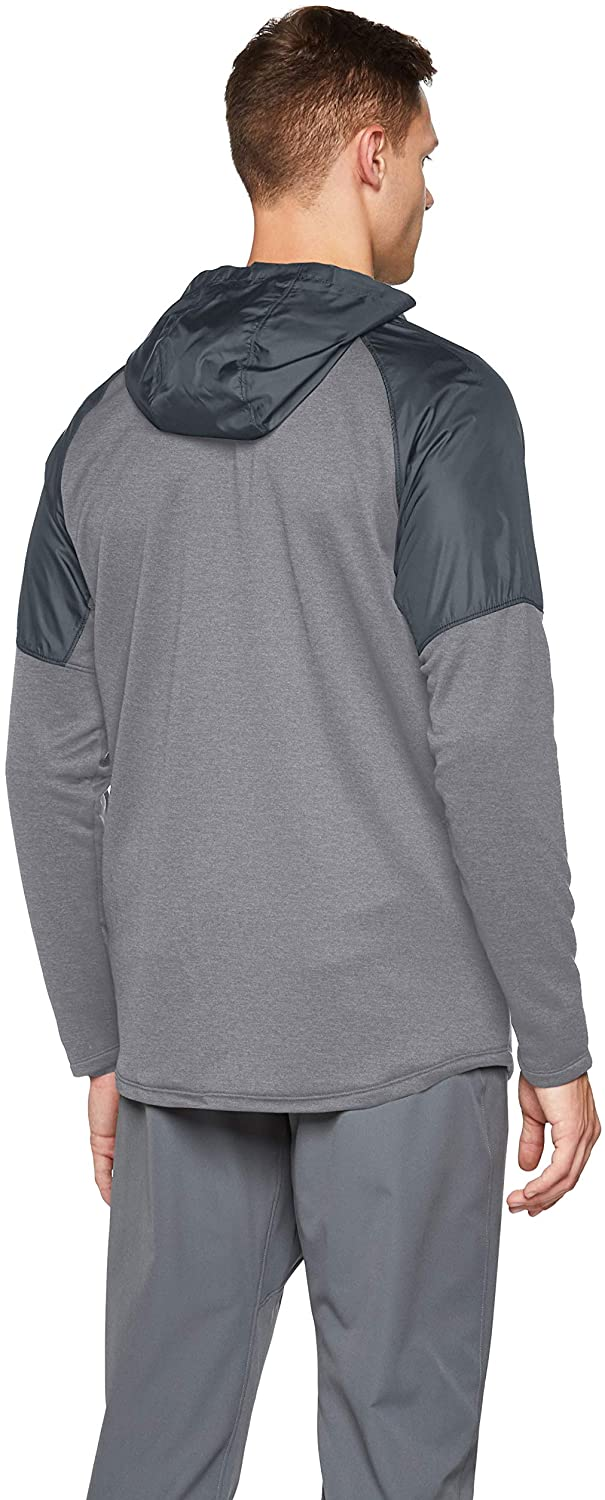 Under Armour MK1 Terry Full Zip Hoodie, Mod Gray//Pitch Gray, XX-Large