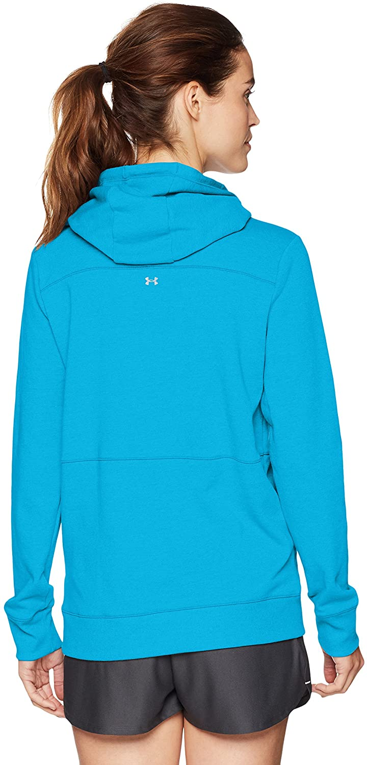 Under Armour Outerwear Women's Threadborne Shoreline Hoodie, Canoe Blue (713)/Moroccan Blue, Large