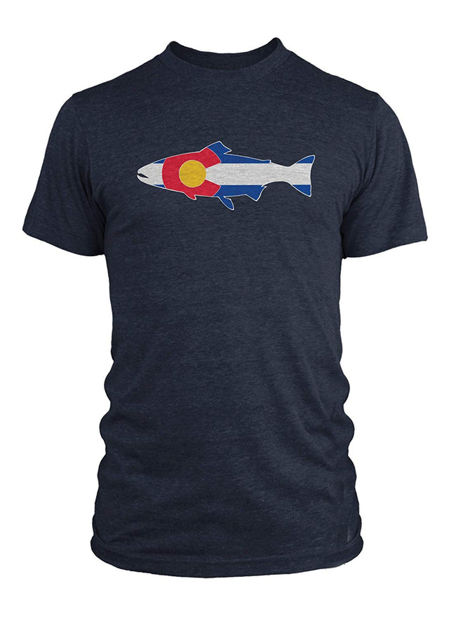 Rep Your Water Colorado Flag T-Shirt - Large - Navy