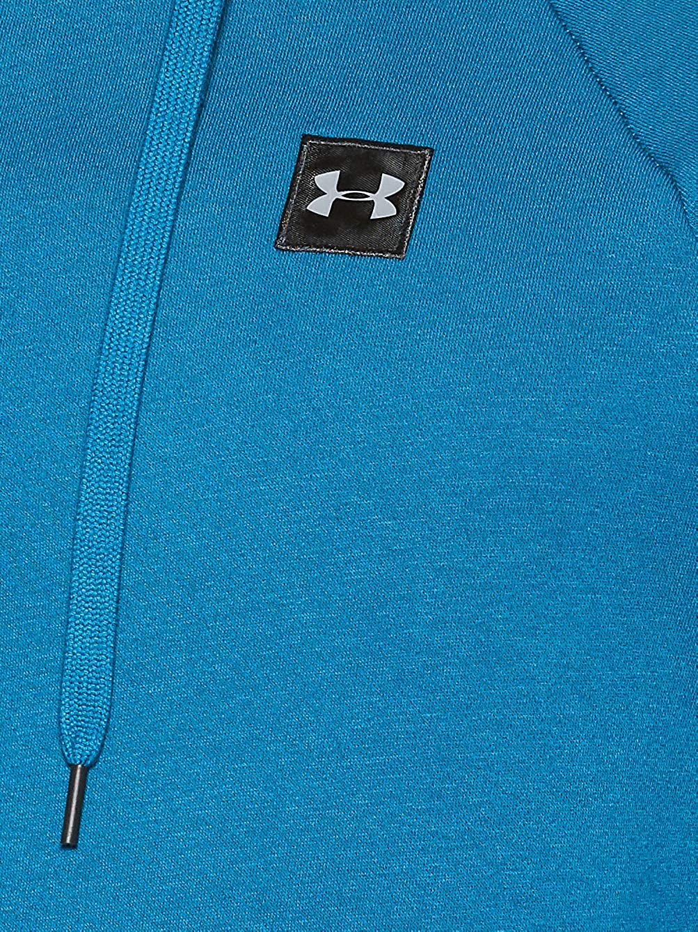 Under Armour Men's Rival Fleece Hoodie, Teal Vibe (417)/Black, 3X-Large