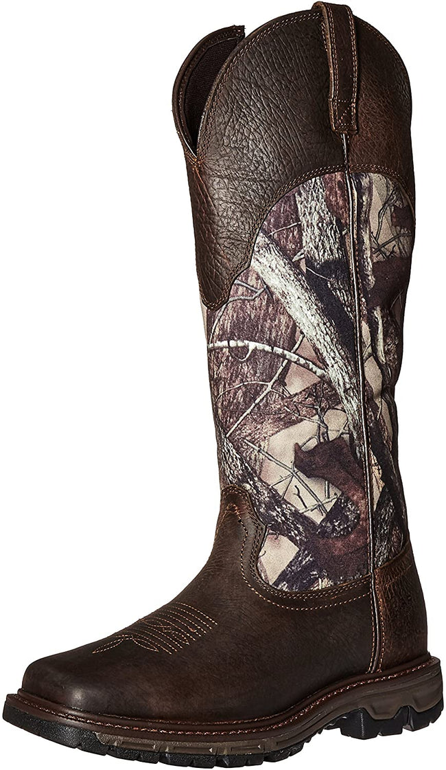 Ariat Men's Conquest Rubber Buckaroo Insulated Hunting Boot, Real Tree Extra, 11 2E US